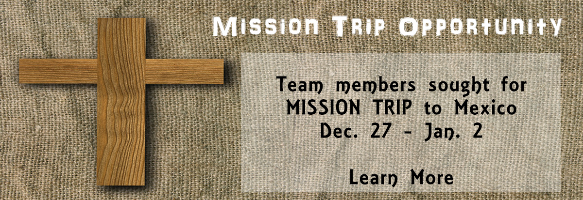 Mission Trip Opportunity